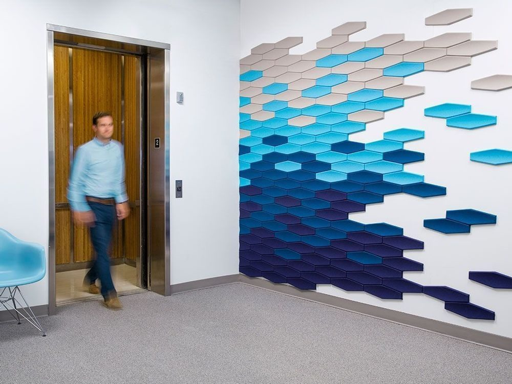 decorative office wall by office environments