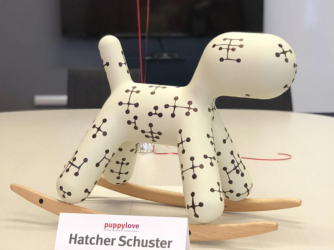 Hatcher Schuster dog figurine