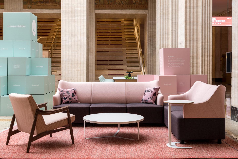 pink office space Herman Miller