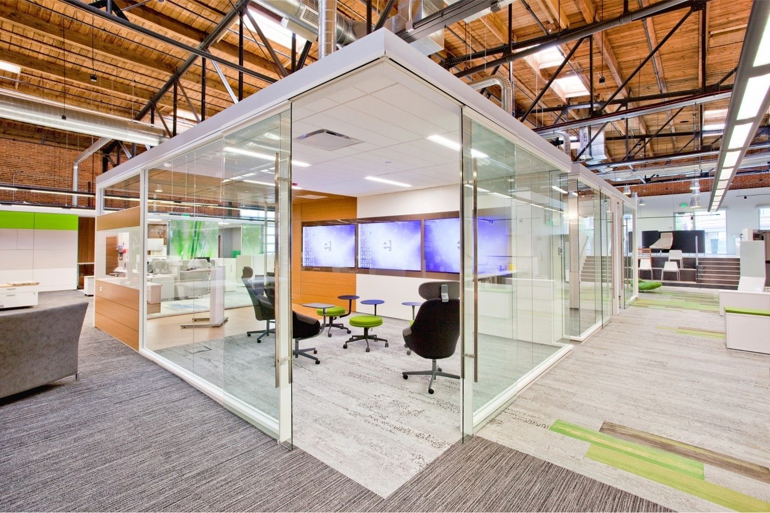glass meeting room office environments