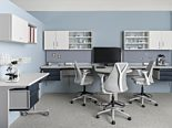 Healthcare furniture chairs and medical office cabinets from Herman Miller