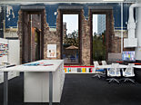 Creative office space design using custom office furniture and filing cabinets