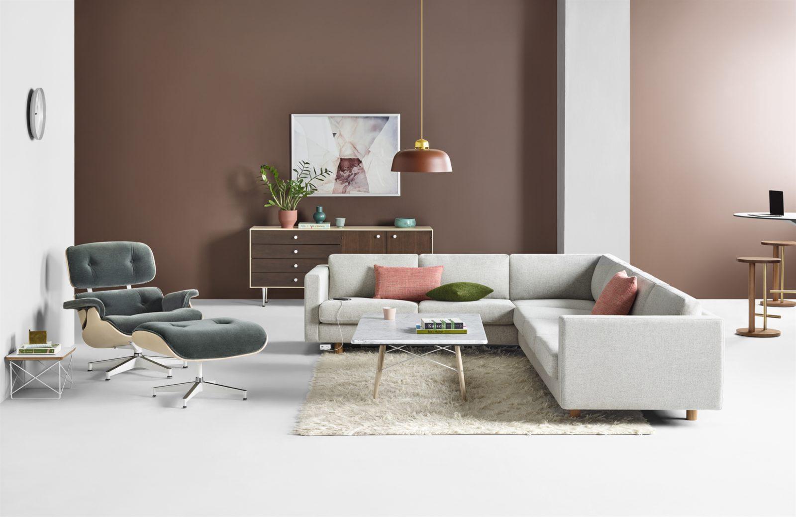 modern office lounge area