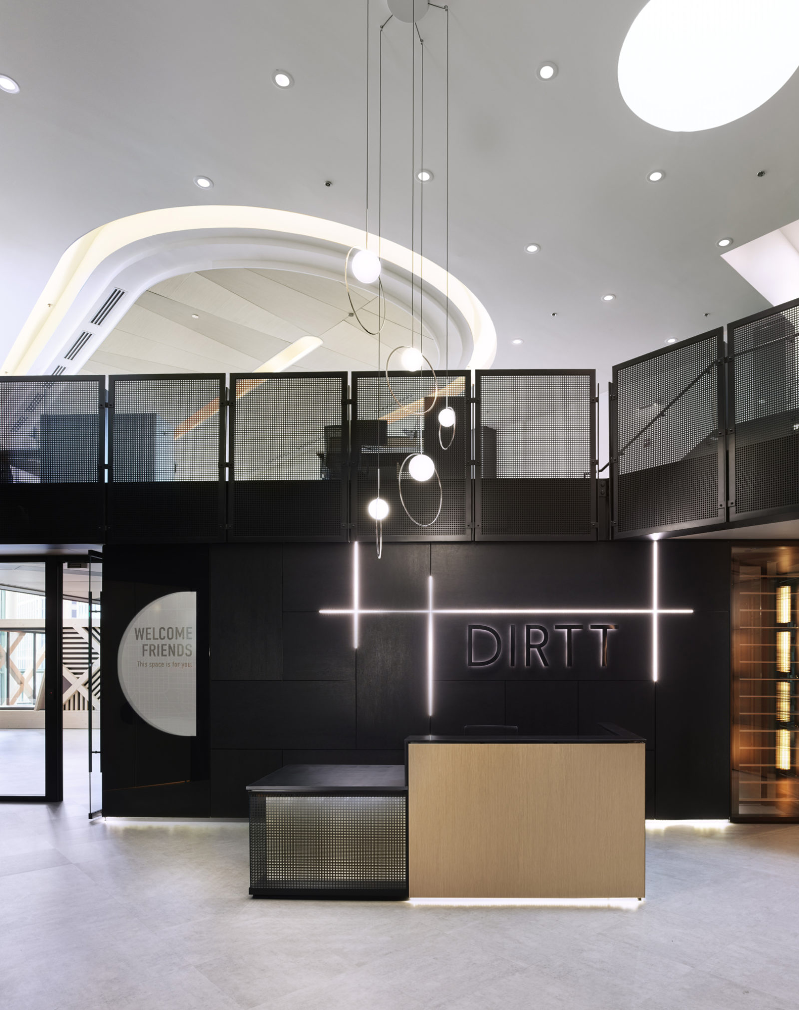 Chicago DXC lobby by Office Environments
