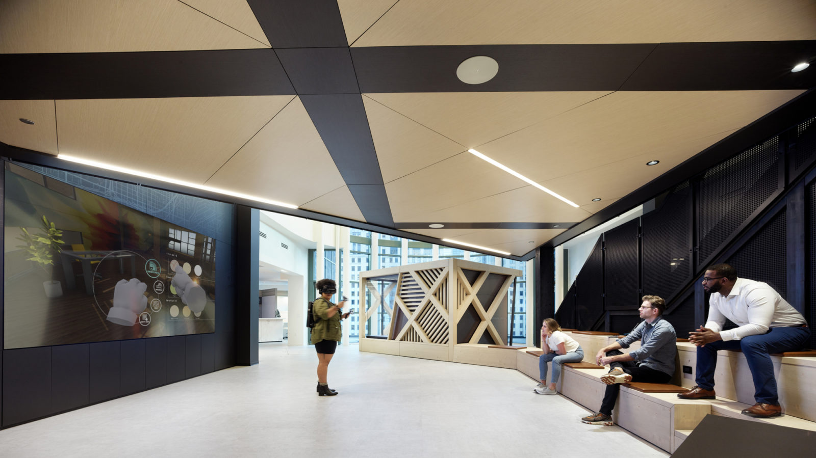 Chicago DXC VR room by Office Environments