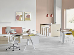 bright open office setup
