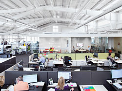 open corporate office space by Office Environments