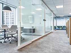 meeting rooms with glass doors