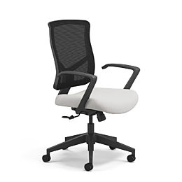 black and white Bolero task chair