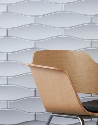 tile wall by office environments