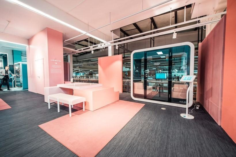pink office space